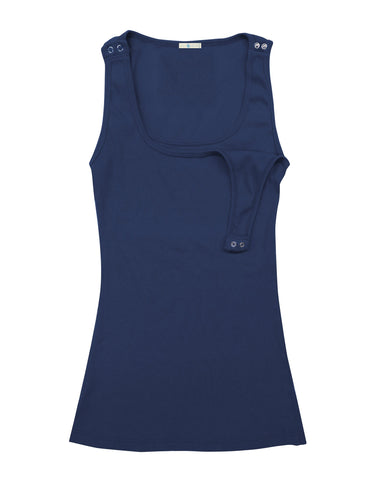 Bun Maternity Navy Nursing Tank Top