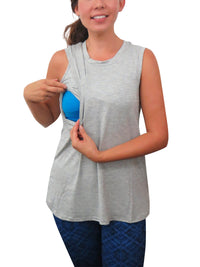 High Neck Swing Tank Bun Maternity Nursing Tank Top Bun Maternity Nursing Apparel