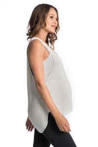 Flowy All Day Nursing Tank - 4 Colors Bun Signature Nursing Tank Top Bun Maternity Nursing Apparel small 2/4 gray
