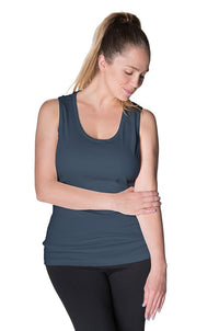 All Day Ribbed Side Nursing Tank - 4 Colors Bun Maternity Nursing Tank Top Bun Maternity Nursing Apparel small 2/4 navy