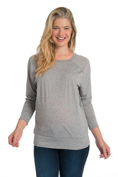 Crossback Longsleeve Nursing Top - 2 Colors Longsleeve Top Bun Maternity Nursing Apparel