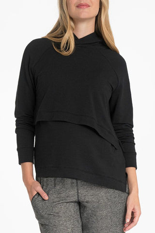 Bun Maternity Asymmetrical Pop Up Nursing Hoodie
