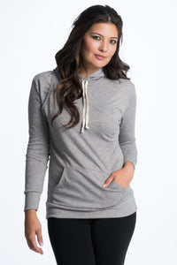 Cozy Maternity Nursing Hoodie - 4 Colors Hoodie Bun Maternity Nursing Apparel gray small 2/4