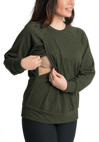 Relax Maternity Nursing Pullover - 6 Colors Sweater Bun Maternity Nursing Apparel small 2/4 cargo