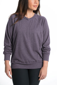 Relax Maternity Nursing Pullover - 6 Colors Sweater Bun Maternity Nursing Apparel small 2/4 violet verbena
