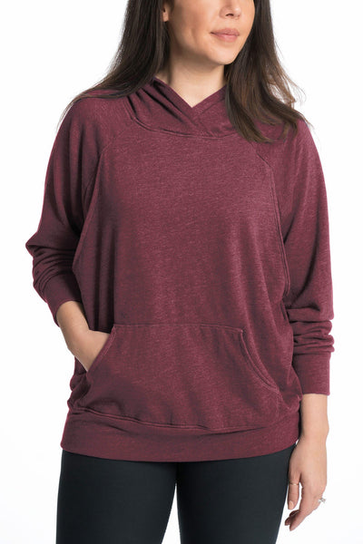 Relaxed Daily Nursing Hoodie in Marsala