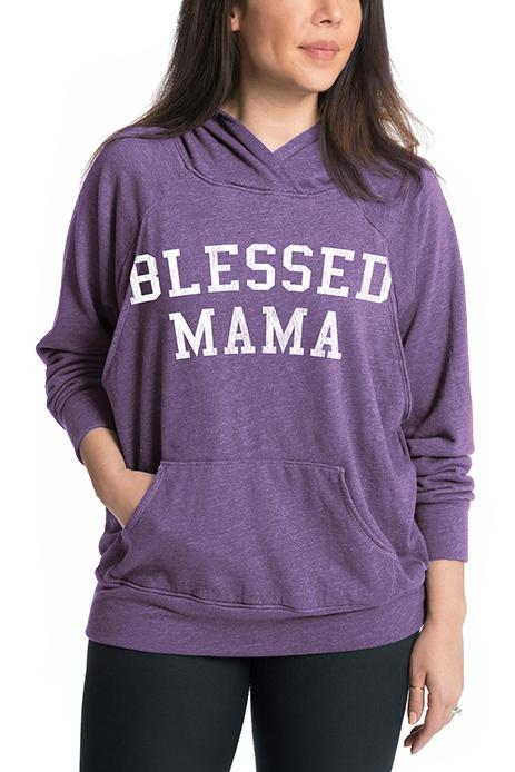 Blessed Mama Maternity Nursing Hoodie Hoodie Bun Maternity Nursing Apparel