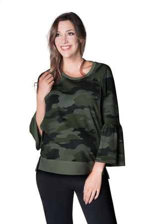 Inspired Bell Sleeve Pullover, Sweater, Bun Maternity Nursing Apparel- Bun Maternity