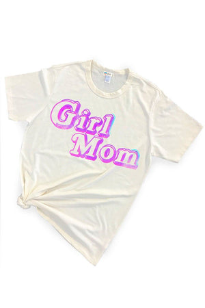Girl Mom Triblend Graphic Tee Shirt Tee Shirt Bun Maternity Nursing Apparel S heather gray