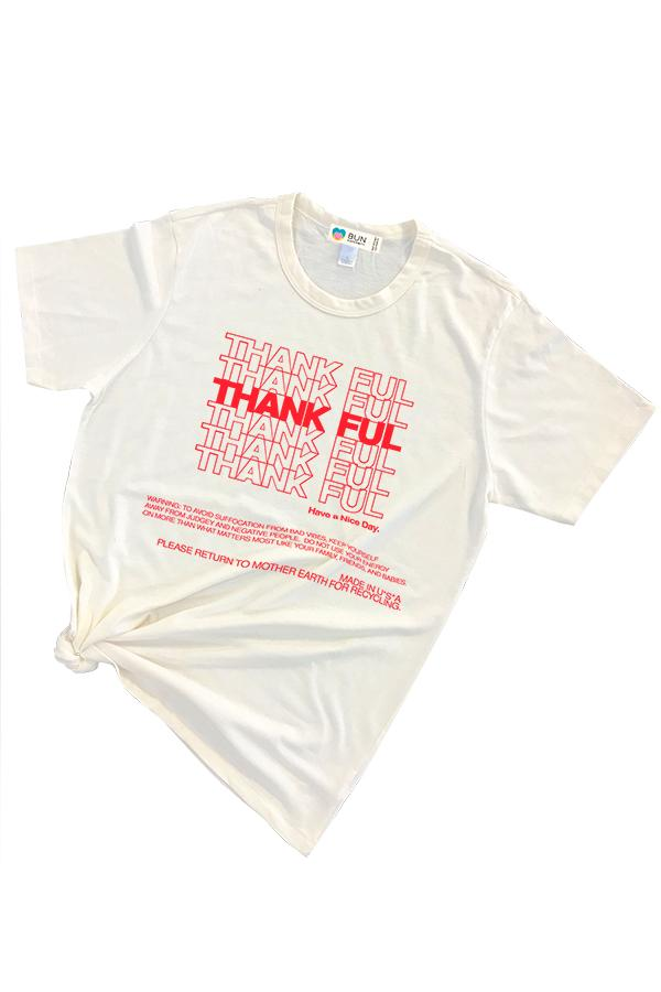 Thankful Graphic Eco Triblend Tee Shirt Tee Shirt Bun Maternity Nursing Apparel
