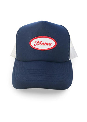 MAMA Patch Trucker Hat Hat Bun Maternity Nursing Apparel OS navy