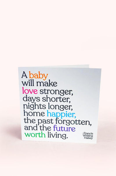 Greeting Cards for Mom Bun Maternity Nursing Apparel love stronger