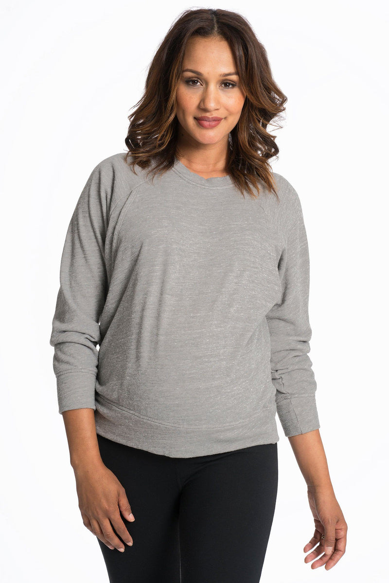 Relax Maternity Nursing Pullover - 6 Colors Sweater Bun Maternity Nursing Apparel small 2/4 gray