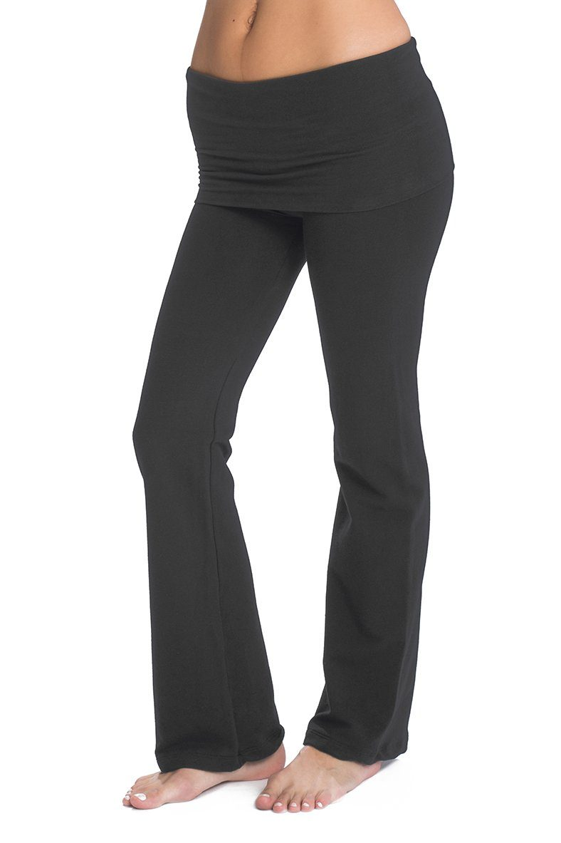 Fold Over Wide Leg Pant Pant Bun Maternity Nursing Apparel