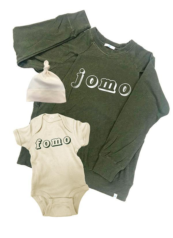 JOMO FOMO Mommy & Me Set, Mommy and Me, Bun Maternity Nursing Apparel- Bun Maternity