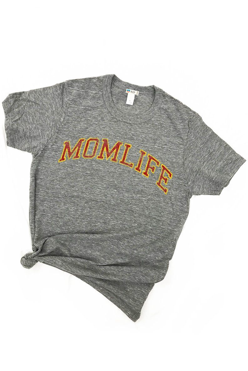 Mom Life Triblend Graphic Boyfriend Tee Tee Shirt Bun Maternity Nursing Apparel