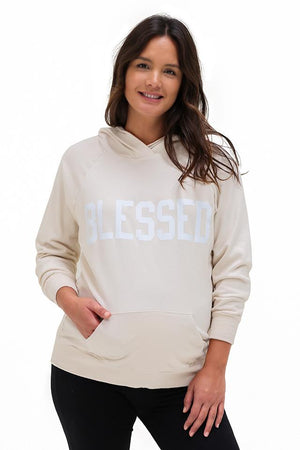 Feeling Blessed Organic Hoodie Hoodie Bun Maternity Nursing Apparel