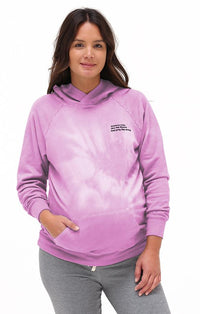 Grateful Organic Hoodie Hoodie Bun Maternity Nursing Apparel small pink cloud