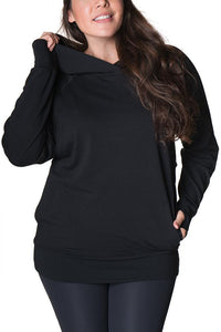 Active Light Maternity Nursing Pullover Hoodie Hoodie Bun Maternity Nursing Apparel