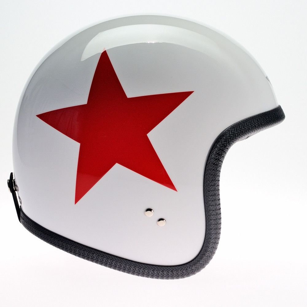 WHITE RED STAR DAVIDA NINETY TWO HELMET - Speedwear Ltd