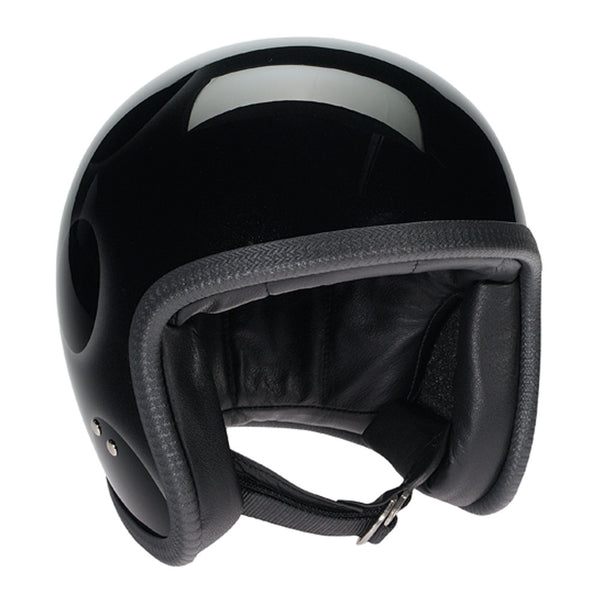 93533 - Black, Silver Flames Davida Speedsterv3 Helmet - Speedwear Ltd - 3