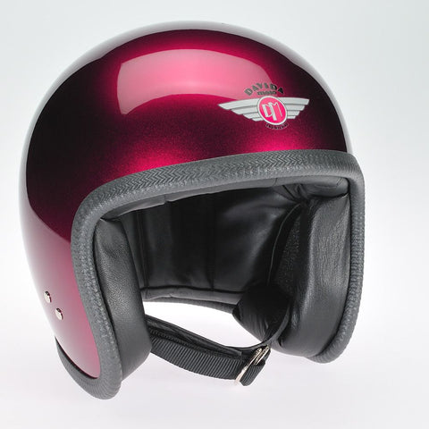 COSMIC FLAKE BURGUNDY DAVIDA NINETY TWO HELMET - Speedwear Ltd