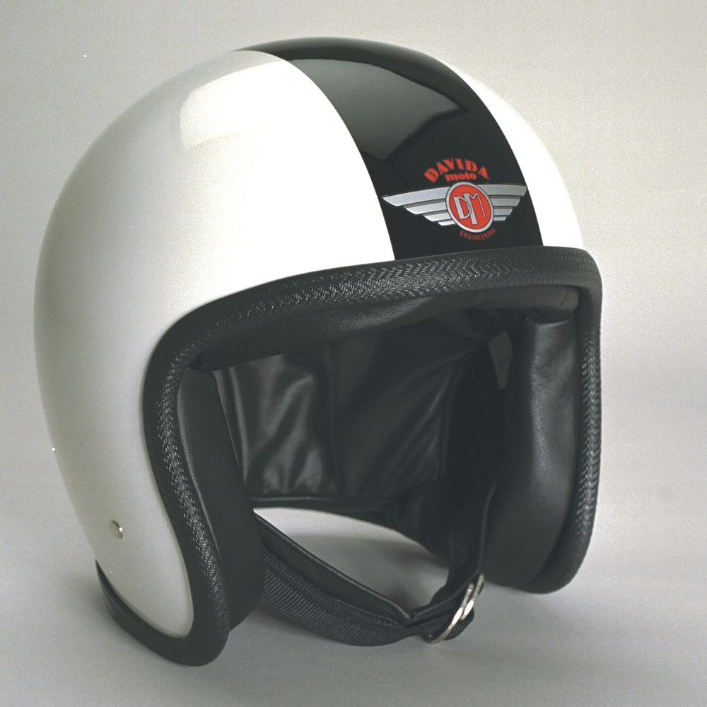 WHITE BLACK DAVIDA NINETY TWO HELMET - Speedwear Ltd