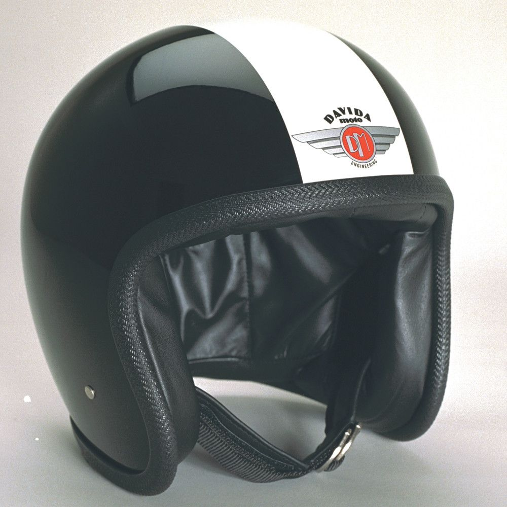 BLACK WHITE DAVIDA NINETY TWO HELMET - Speedwear Ltd