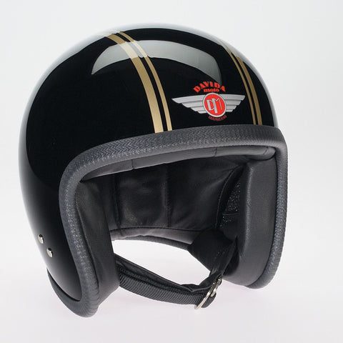 GLOSS BLACK GOLD DAVIDA NINETY TWO HELMET - Speedwear Ltd