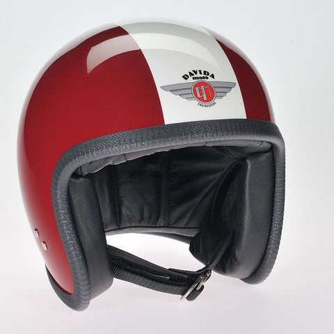 MAROON WHITE DAVIDA NINETY TWO HELMET - Speedwear Ltd