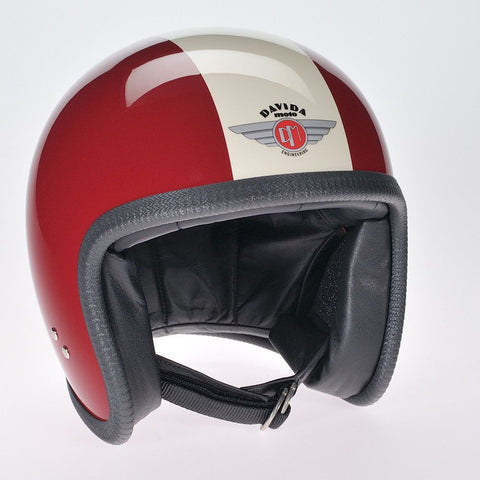 MAROON CREAM DAVIDA NINETY TWO HELMET - Speedwear Ltd