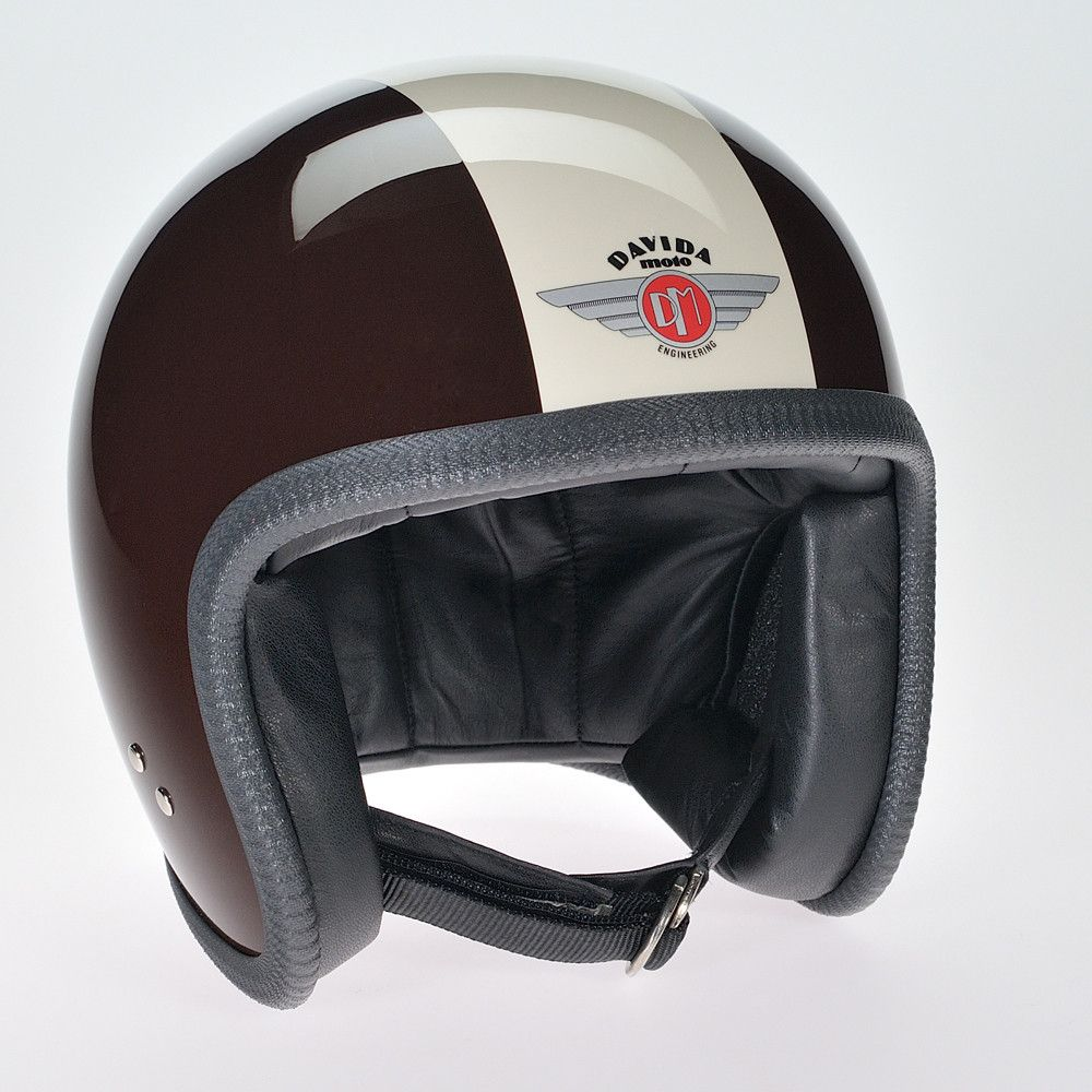 BROWN CREAM DAVIDA NINETY TWO HELMET - Speedwear Ltd