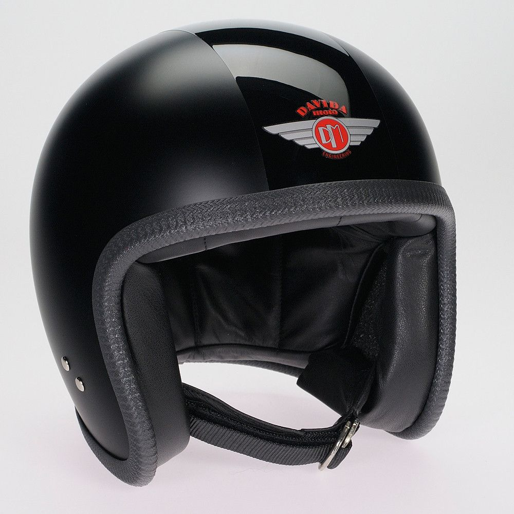 MATT BLACK GLOSS BL?ACK DAVIDA NINETY TWO HELMET - Speedwear Ltd