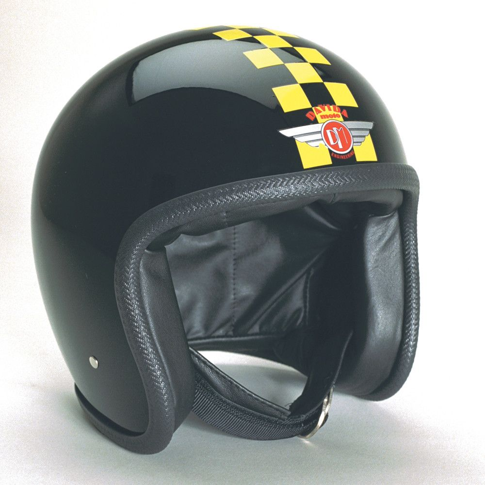 BLACK YELLOW CHECK DAVIDA NINETY TWO HELMET - Speedwear Ltd