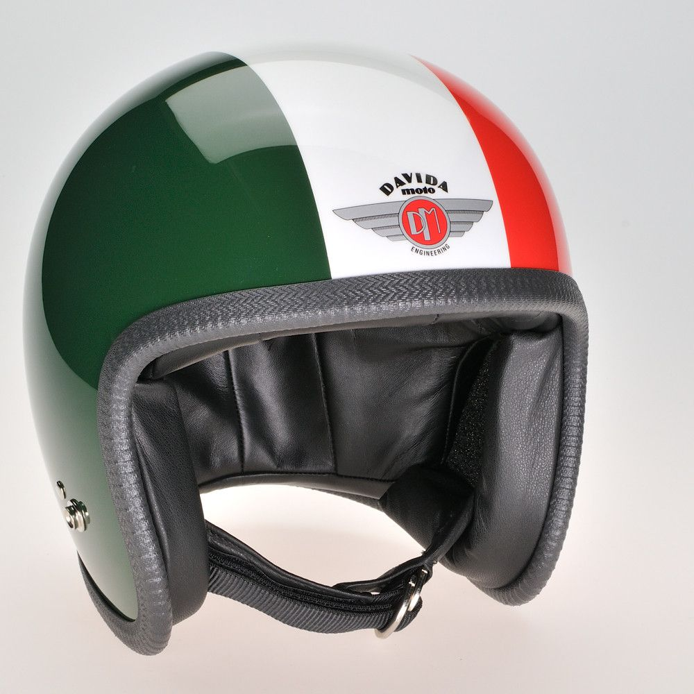 GREEN, WHITE, RED DAVIDA NINETY TWO HELMET - Speedwear Ltd