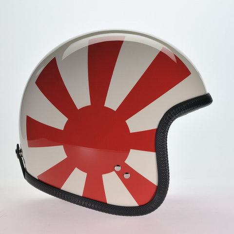 9 RED RAYS OVER CREAM DAVIDA NINETY TWO HELMET -