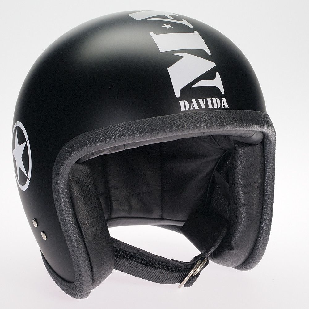 MASHED MATT BLACK DAVIDA NINETY TWO HELMET - Speedwear Ltd