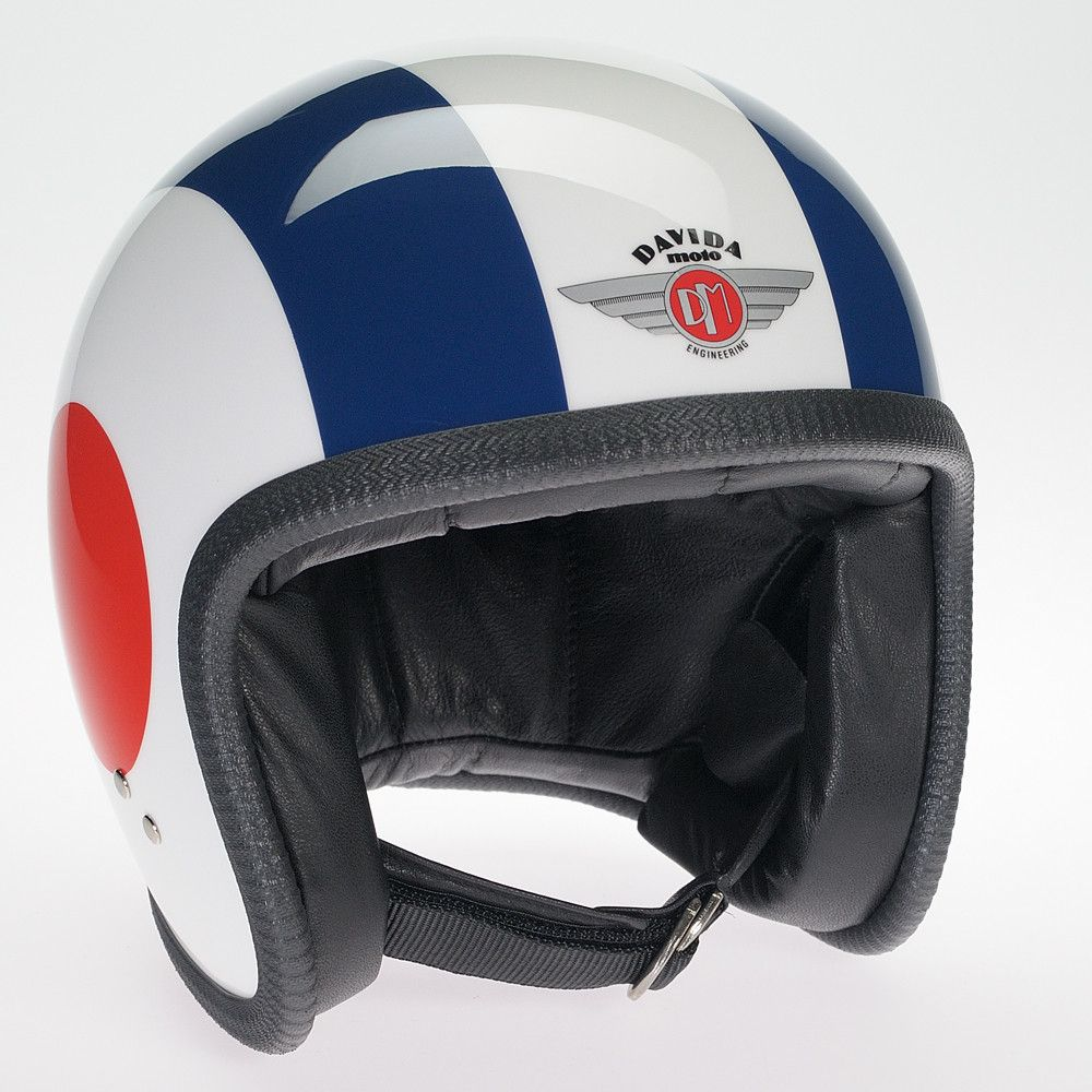 WHITE/RED/WHITE/BLUE/TARGET SIDES DAVIDA NINETY TWO HELMET - Speedwear Ltd