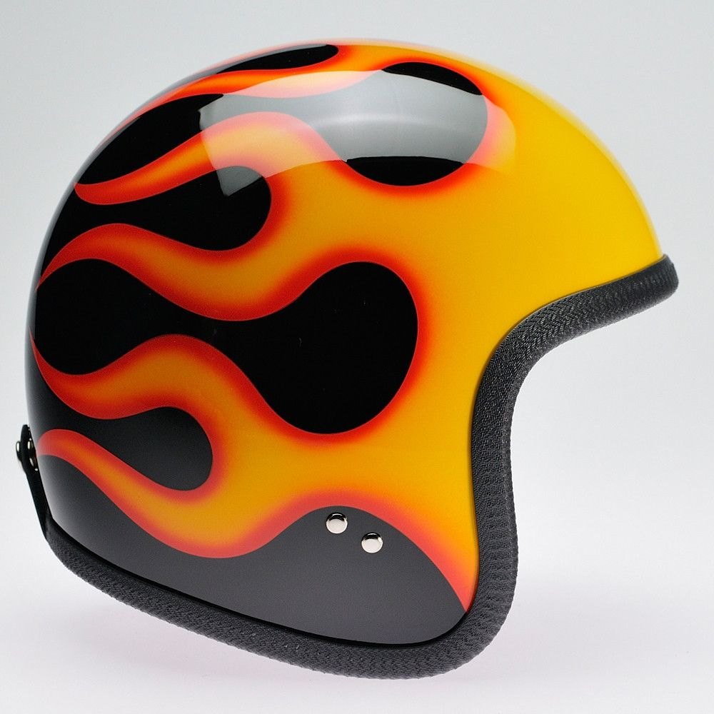 BLACK, ORANGE FLAMES NINETY TWO HELMET - Speedwear Ltd
