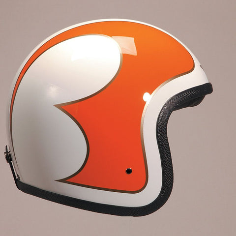 CREAM B ORANGE GOLD DAVIDA NINETY TWO HELMET - Speedwear Ltd