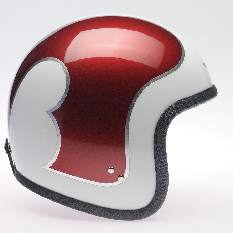 WHITE B METALLIC RED/SILVER DAVIDA NINETY TWO HELMET - Speedwear Ltd