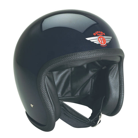 93104 - Gloss Black Davida Speedsterv3 Helmet - Speedwear Ltd