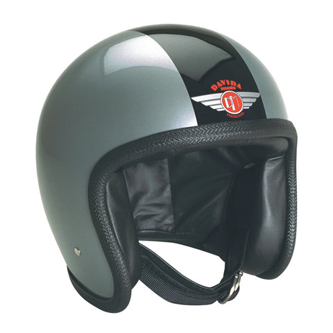 93200 - Silver Black Davida Speesterv3 Helmet - Speedwear Ltd