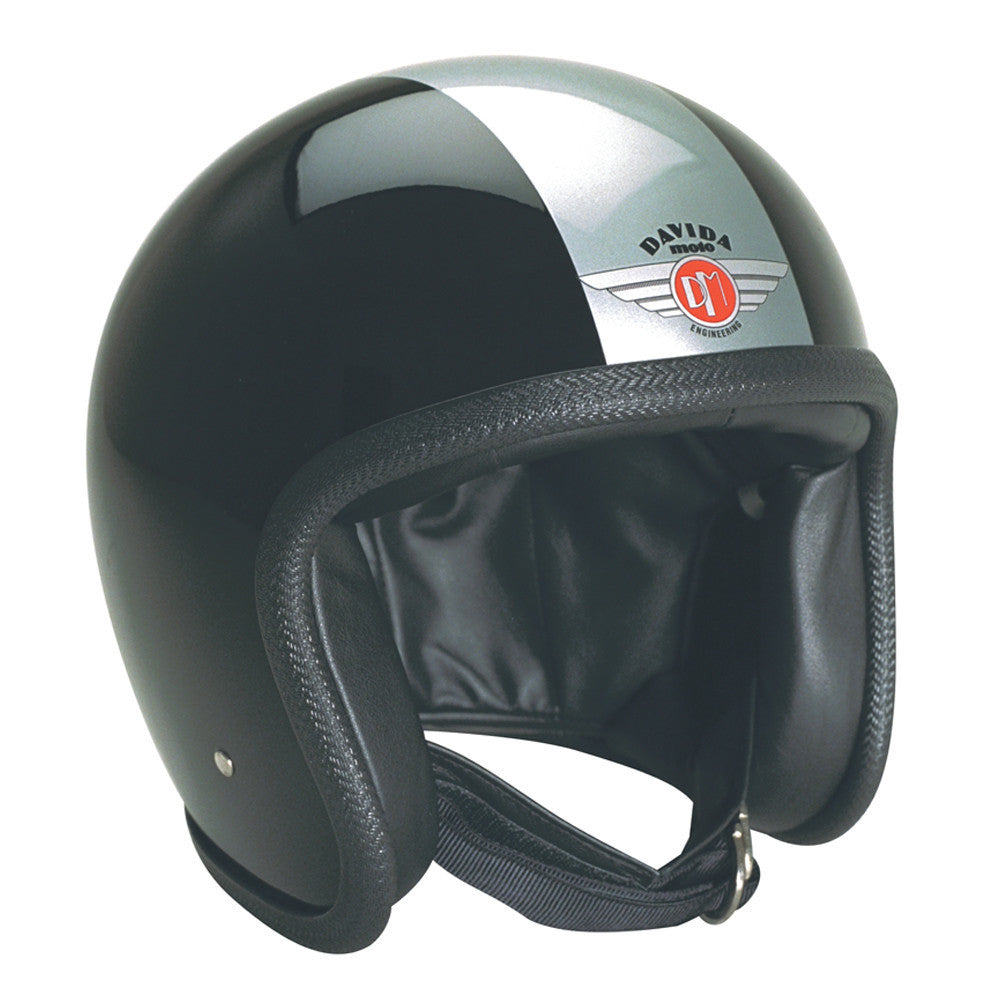 93220 - Black Silver Davida Speedsterv3 Helmet - Speedwear Ltd
