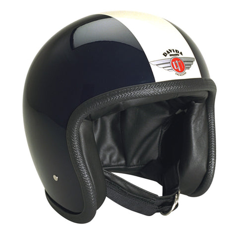 93221 - Black White Davida Speedsterv3 Helmet - Speedwear Ltd