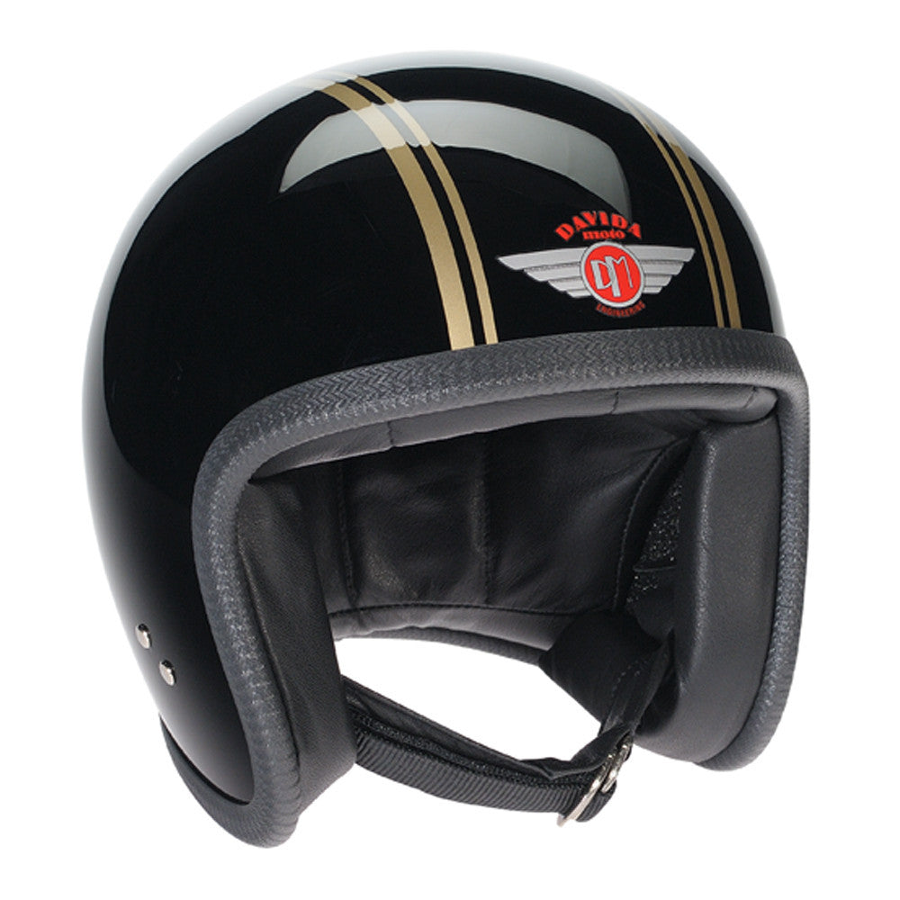 93228 - Black Gold PS Davida Speedsterv3 Helmet - Speedwear Ltd - 1