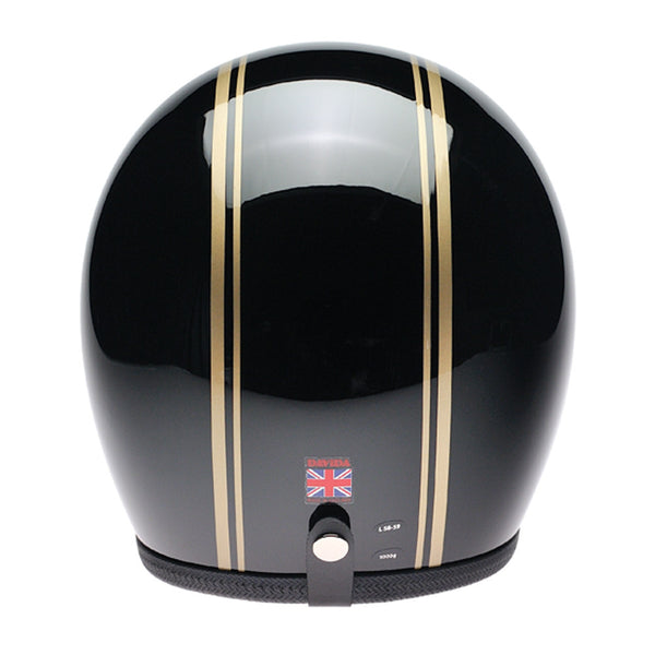 93228 - Black Gold PS Davida Speedsterv3 Helmet - Speedwear Ltd - 2
