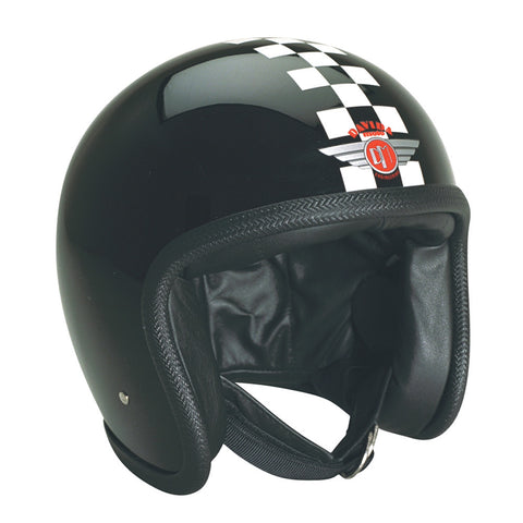 93270 - Black White Check Davida Speedsterv3 Helmet - Speedwear Ltd