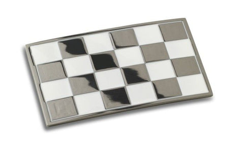 CHEQUERED FLAG BELT BUCKLE - Speedwear Ltd