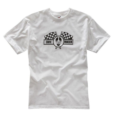 WHITE CAFE RACER T-SHIRT - Speedwear Ltd